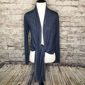 Patagonia Blue Heather Drape Tie Front Cardigan XS